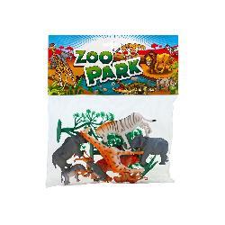 ANIMALES ZOO CON ACC 14PCS EN BOLSA