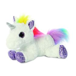 UNICORNIO BLANCO MULTICOLOR 31CM