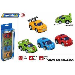 COCHES METAL PACK 4UD