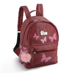 MOCHILA MINNIE FASHION MARIPOSAS ROSA