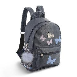 MOCHILA MINNIE FASHION MARIPOSAS AZUL