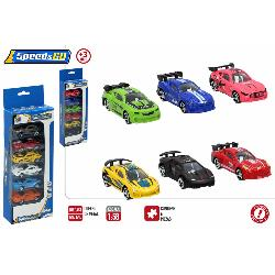 COCHES METAL PACK 6UD