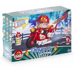 PIN Y PON ACTION MOTO DE BOMBERO