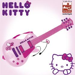 GUITARRA ELECTR.+MICRO MANO HELLO KITTY