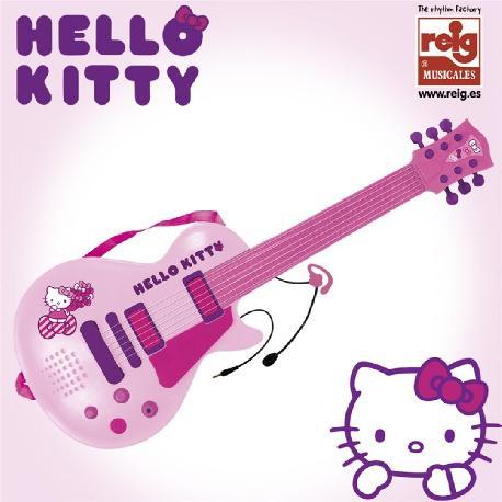 GUITARRA ELECTR.+MICRO MANO HELLO KITTY