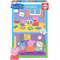 PUZZ 2X20 PEPPA PIG