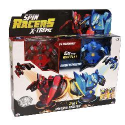 SPIN RACERS-PACK FLAMMING Y SABERTOOTH