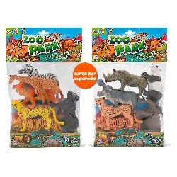 ANIMALES ZOO 6PCS 2 SURT