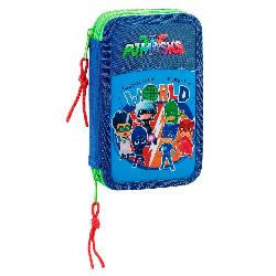 PLUMIER PJ MASKS DOBLE 28 PCS