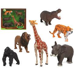 ANIMALES SELVA PACK 6PCS EN...