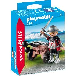 PLAYMOBIL CABALLERO CON CAÃ'ON