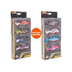 COCHES METALICOS PACK 4 PCS 2 SURT