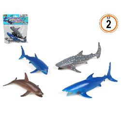 ANIMALES OCEANO 4 PCS EN BOLSA