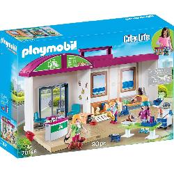 PLAYMOBIL CLINICA VETERINARIA MALETIN