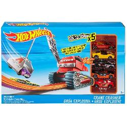 HOT WHEELS-PLAYSET CRANE CRASER