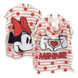 PONCHO MINNIE LOVE MICROFIBRAS 110X55
