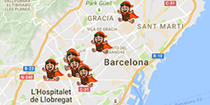 mapa tiendas juguetes tio sam barcelona
