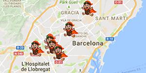 mapa tiendas juguetes tio sam barcelona